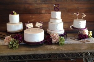rustic wedding cake table aspen catering