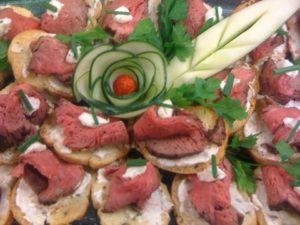 crostini appetizer catering dfw