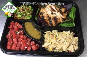 box lunch catering with chicken